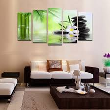 wall frame decor home cheap frames 5 piece bamboo stone scenery modern intended for 19  on modern framed wall pictures with wall frame decor home cheap frames 5 piece bamboo stone scenery