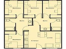 4 bedroom floor plan. Ingenious Design Ideas Small 4 Bedroom House Floor Plans 13 Plan Modular Farmhouse Home L