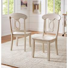 antique wooden dining chairs. Brilliant Wooden HomeSullivan Sawyer Antique White Wood NapoleonBack Dining Chair Set Fo 2 With Wooden Chairs O