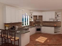 ... Good Looking Copper Kitchen Backsplash For Kitchen Decoration :  Delectable U Shape Kitchen Decoration Ideas Using ...