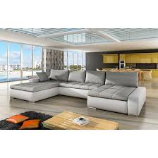 corner sofa bed. Wonderful Corner Candela Fabric And PU Corner Sofa Bed In White Grey With