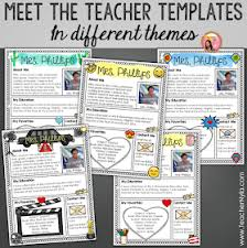 Letter Templates For Teachers Nylas Crafty Teaching Meet The Teacher Letter Templates