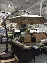 proshade 11 parasol cantilever umbrella costcochaser patio umbrellas costco canada designs
