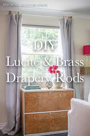 brass curtain rods. 2015 0709 Lucite And Brass DIY Drapery _Rod_Pinterest Curtain Rods