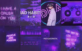 Taehyung Aesthetic purple neon bts ...