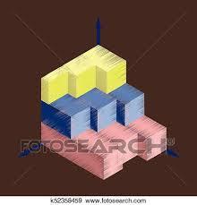Flat Shading Style Icon Economic Chart Clip Art K52358459