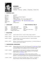 resume artist resume template