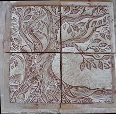 ceramic tile artists. Unique Artists Tree Of Life Ceramic Tile Art Unglazed U2013 Natalie Blake Studios Intended Ceramic Tile Artists
