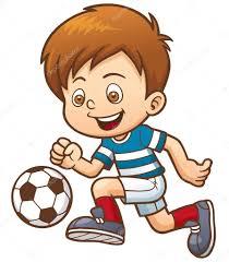 Výsledek obrázku pro fotbalista kreslený