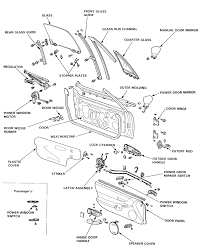 14 exploded view of front door embly 1992 95 del sol