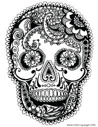 Coloring Pages Of Skulls Sugar Skull Coloring Page Printable Skull