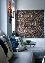 image of brown mandala wall art on wood mandala wall art large with design mandala wall art andrews living arts how to arrange