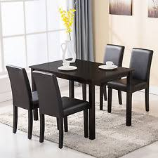 dining chairs set of 4. 5 Piece Dining Table Set 4 Chairs Wood Kitchen Dinette Room Breakfast Furniture Of