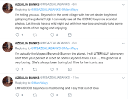 Azealia Banks drags Beyonce on Twitter