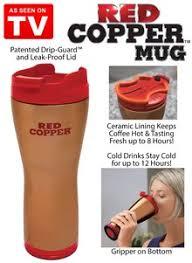 red copper travel mug
