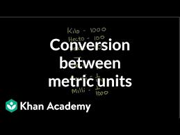 Conversion Between Metric Units Video Khan Academy