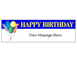 Happy Birthday Balloons Banner Happy Birthday Balloons Banner Blue Holiday Celebration Flags