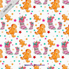 gingerbread background. Plain Gingerbread Christmas Background With Socks And Gingerbread Man In Watercolor Style  Free Vector In Gingerbread Background R