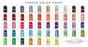 Embroidery Chart Embroidery Color Charts Southern Sleek