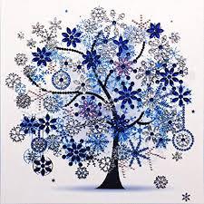 ZOUD <b>Winter</b> Flower Tree 5D Special Shaped <b>Diamond</b> Painting ...