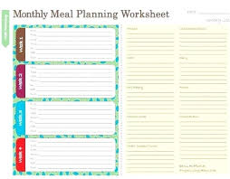 menu planner worksheet free menu planners template inspirational meal planning diet planner