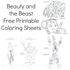 Free Printable Beauty And The Beast Colouring Pages Beauty And The