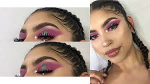 festival makeup tutorial colorful halo eyeshadow