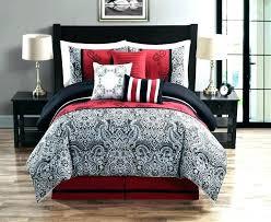 black and red comforter set full red black comforter sets black and red comforter queen black black and red comforter set