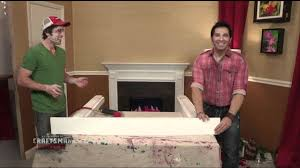 frank fontana on how to make and decorate a fake fireplace mantel you