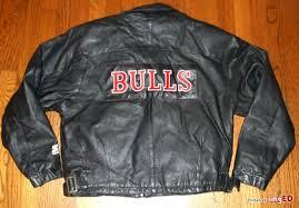 chicago bulls vtg 90 s leather starter jacket motorcycle sewn michael jordan s m