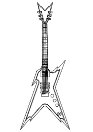 Small Picture Guitar coloring pages to print ColoringStar