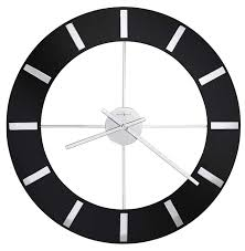 high resolution image of the howard miller onyx 625 602 large contemporary wall clock