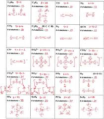 Lewis Structure Worksheets With Answers Drawing Lewis Structures Worksheet