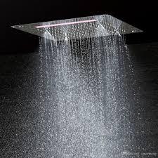 Großhandel Luxus Badezimmer Led Decke Duschkopf Zubehör Sus304 400x400mm Funktionen Regen Wasserfall Nebel Dusche Df5326 Von Cncoming 32161 Auf