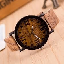 genvivia watch men s bamboo wooden wrisches roman numerals wood leather