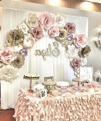 photo 5 of chic rustic bridal shower decoration ideas see more paper flower wall al pictures