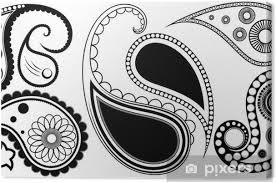 Obraz Umělecké Paisley Henna Tetování Vzory Na Plátně