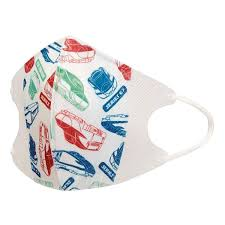 ten pieces of shinkansen for the child solid mask three levels structure nonwoven fabric solid mask child containing