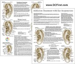Auriculotherapy Chart Points Smoking Addiction Treatment Ear Acupuncture Chart