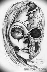 черно белый эскиз тату с черепом 11032019 039 Tattoo Sketch