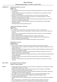 Sourcing Analyst Resume Samples Velvet Jobs