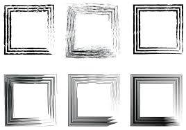 white vintage photo frame set of abstract photo frames vintage frame hand drawn brushes stock white