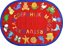 circle time rugs classroom rug 7 x lakes animals oval red