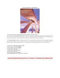 pdf university physics th edition pdf online university physics 14th edition the benchmark