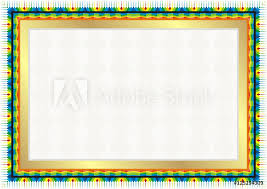 photo art print colorful frame border with modern decorative design europosters