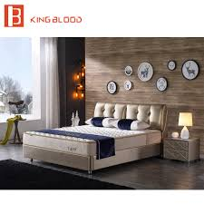 Modern Bed Design Images Us 574 0 Indian Modern Genuine Leather Solid Wood Double Bed Designs Bedroom Furniture In Beds From Furniture On Aliexpress