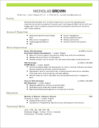 Good Resume Outline Appealing Resume Outline Example Ideas Template Standard Free