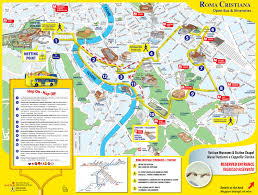map of rome tourist attractions sightseeing  tourist tour