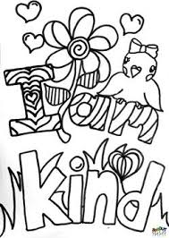 Beautiful Decoration Coloring Page Kindness Choose Kindness Coloring