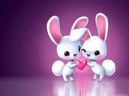 wallpaper: Love Couple Cartoon 3d Wallpaper